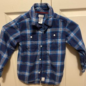 Carters blue plaid button down shirt